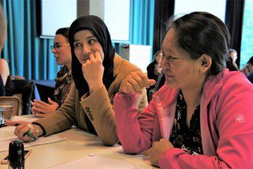 Van links naar rechts: Iman, Phubu