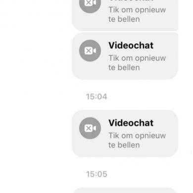 Videobellen is niet mogelijk