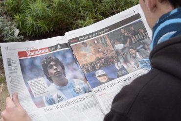 Diego Maradona krant